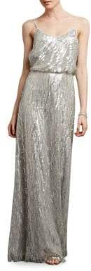 Donna Morgan V-Neck Blouson Dress