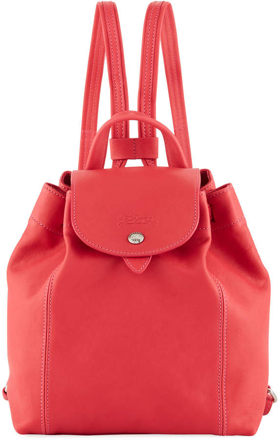 Longchamp Le Pliage Cuir XS Leather Backpack - PINK - STYLE