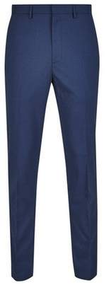 Mens Skinny Fit Stretch Dogtooth Trousers