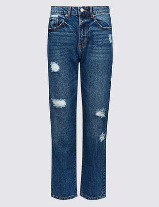 Marks and Spencer High Waist Straight Leg Jeans