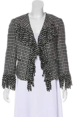 Chanel Fringe Houndstooth Jacket