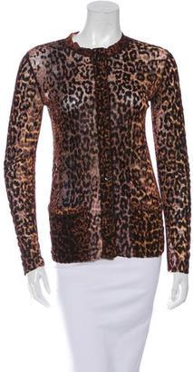 Jean Paul Gaultier Mesh Leopard Print Cardigan $125 thestylecure.com