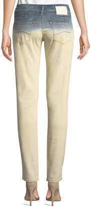 Armani Collezioni Dip-Dyed Straight-Leg Denim Jeans