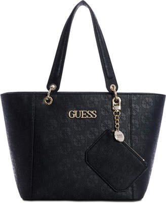 4604e6d4f2f GUESS Kamryn Debossed Logo Tote With Pouch