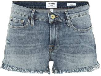 Frame Le Cut Off Shredded Raw shorts