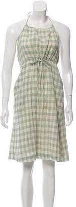 Steven Alan Gingham Halter Dress