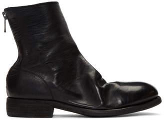Guidi ブラック ジップ ブーツ