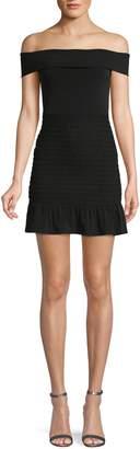 BCBGeneration Off-The-Shoulder Mini Smocked Dress