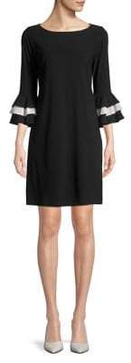Gabby Skye Ruffled Sleeve Shift Dress