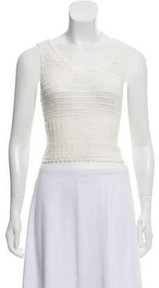 Alice + Olivia Crochet Crop Top White Crochet Crop Top