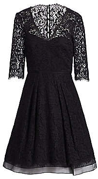 Carolina Herrera Women's Floral Lace Dress