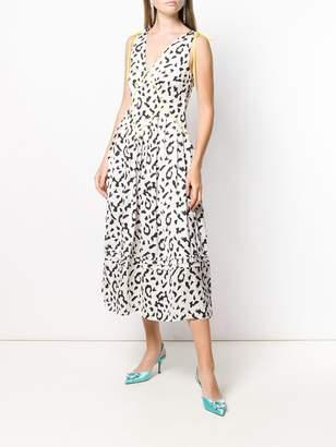 Self-Portrait leopard print midi dress