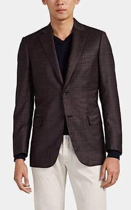 Brioni Men's Ravello Plaid Wool Two-Button Sportcoat - Brown Pat.