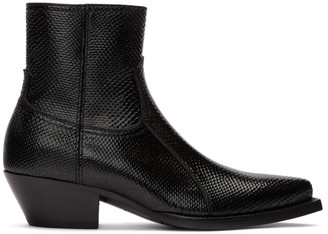 Saint Laurent Black Snake Lukas Boots