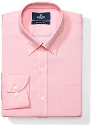 Buttoned Down Men's Slim Fit Button-Collar Solid Non-Iron Dress Shirt