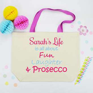 Andrea Fays Personalised 'Life Is All About' Shopping Bag