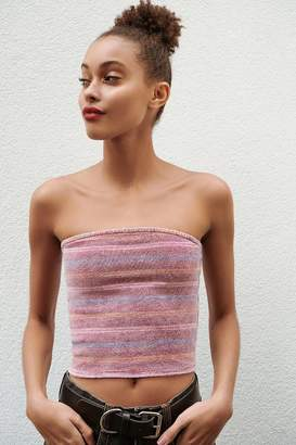 Urban Outfitters Glitter Striped Tube Top