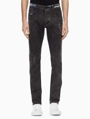 Calvin Klein slim leg blackened indigo jeans