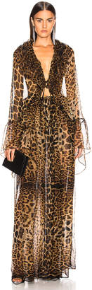 Saint Laurent Leopard Dress in Leopard | FWRD