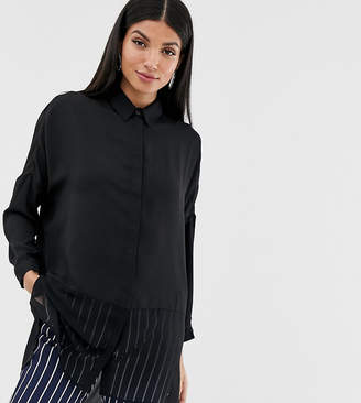 e16c8fb4 Asos Tall DESIGN Tall soft long sleeve shirt in sheer and solid