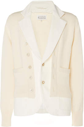 Maison Margiela Rib-Knit Cotton Cardigan