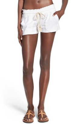 Roxy 'Oceanside' Linen Blend Shorts $38.50 thestylecure.com
