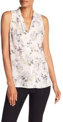 Vince Camuto Sleeveless Floral Print Tank Top