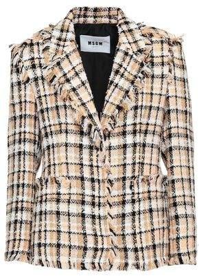 MSGM Checked Tweed Blazer