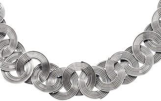 "Steel By Design Stainless Steel 19"" Interlocking Wire Circle Necklace"