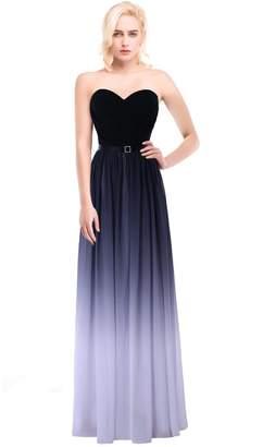 JoyVany Ombre Chiffon Party Dresses 2016 Gradient Evening Dresses Grey