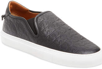 Givenchy Star Embossed Leather Slip-On Sneaker