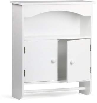 Yaheetech 2-Door Bathroom Wall Storage Cabinet,White