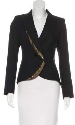 L'Wren Scott Virgin Wool Embroidered Blazer w/ Tags