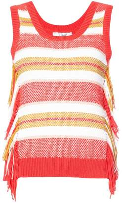 Derek Lam 10 Crosby Sleeveless Knit Top With Fringe