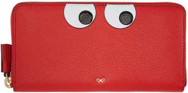 Anya HindmarchAnya Hindmarch Red Large Eyes Wallet