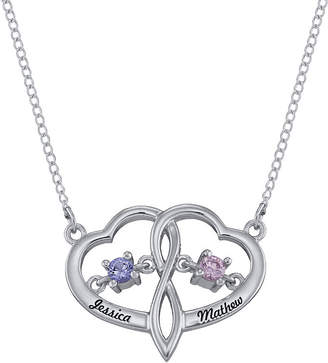 FINE JEWELRY Personalized Dancing Birthstone Heart Pendant Necklace