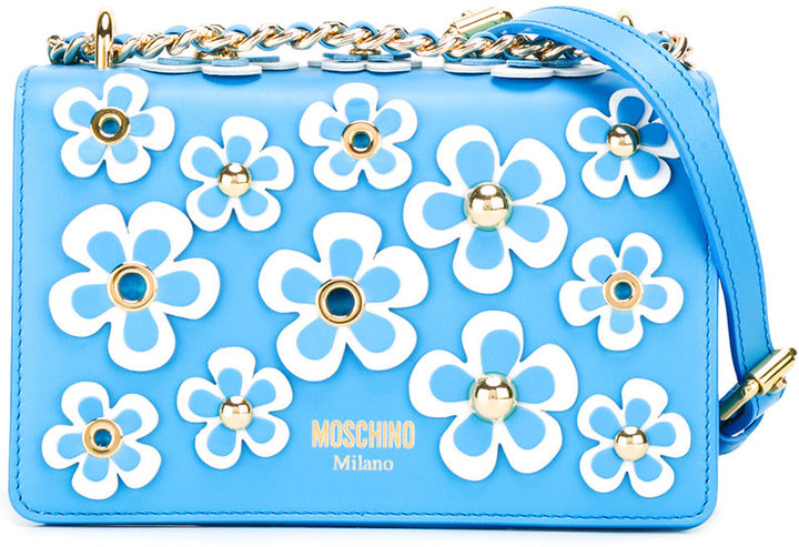 Moschino Moschino floral embellished crossbody bag