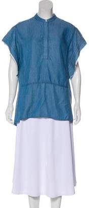 3.1 Phillip Lim Short Sleeve Button-Up Tunic