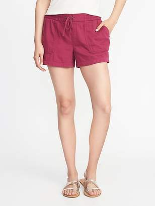 Old Navy Mid-Rise Soft Utility Shorts for Women