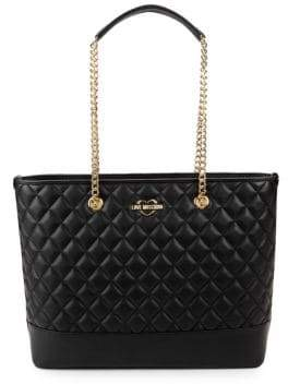 Love Moschino Classic Faux Leather Tote