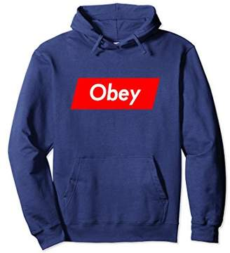 Obey Hoodie for Men Women Kids Funny White on Red