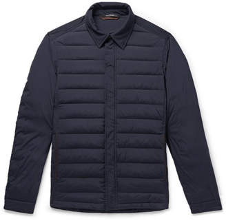 Ermenegildo Zegna Leather-Trimmed Quilted Stretch-Shell Jacket