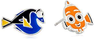 Disney Sterling Finding Dory Mismatched Nemo and Dory Stud Earrings
