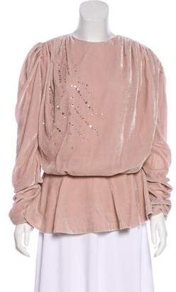 Magda Butrym Embellished Asuncion Top w/ Tags