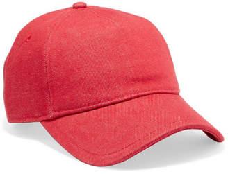 Rag & Bone Marilyn Leather-trimmed Denim Baseball Cap - Red