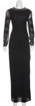 Jean Paul Gaultier Embroidered Maxi Dress