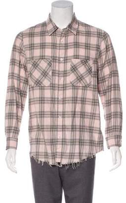 Amiri 2017 Faded Plaid Flannel Shirt w/ Tags