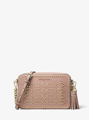 Michael Kors Ginny Medium Studded Leather Crossbody