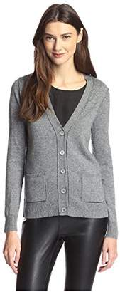 James & Erin Women's Contrast Stitch Cardigan Sweater