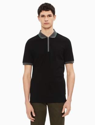 Calvin Klein regular fit contrast zip polo shirt